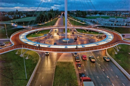 Netherlands bike roundabout